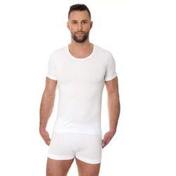 Bezszwowa koszulka męska Brubeck Comfort Cotton SS00990 biała