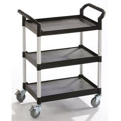 Wózek uniwersalny, 3 piętra, nośność 250 kg, dł. x szer. x wys. 850x480x1000 mm,