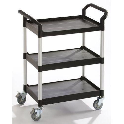 Wózki i stoły narzędziowe, Wózek uniwersalny, 3 piętra, nośność 250 kg, dł. x szer. x wys. 850x480x1000 mm,