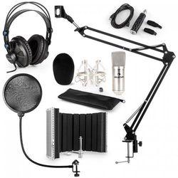 Auna CM001S Zestaw mikrofonowy V5 słuchawki adapter USB ramię mikrofonowe pop-fi