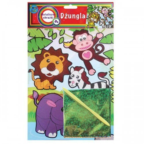Kreatywne dla dzieci, Metaliczne obrazki Dżungla