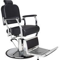 Meble fryzjerskie, Fotel Barberski Silver - Solidna Metalowa Konstrukcja