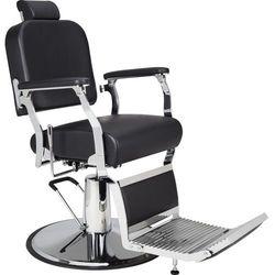 Fotel Barberski Silver - Solidna Metalowa Konstrukcja