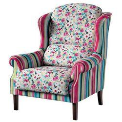 Dekoria Fotel dwukolorowy, kolorowe pasy z przewagą turkusu i różu, 85x107cm, Monet