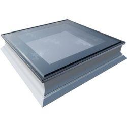 Okno do dachów płaskich OKPOL PGX B1 PVC 90x90 nieotwierane 3-szybowe