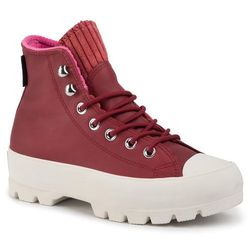 Trampki CONVERSE - Ctas Lugged Winter Hi GORE-TEX 565007C Back Alley Brick/Habanero Red