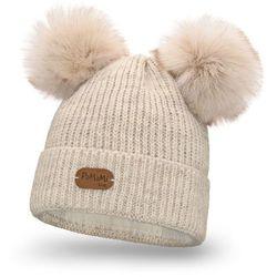 Zimowa czapka dziewczęca PaMaMi - Beżowy - Beżowy