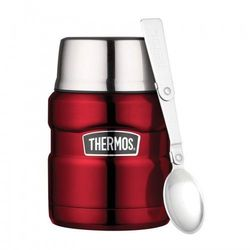 Thermos ® - termos obiadowy ze składaną łyżką - czerwony