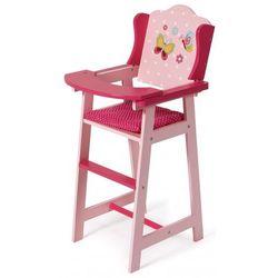 Bayer Chic Drewniane krzesełko do karmienia dla lalek, różowe - BEZPŁATNY ODBIÓR: WROCŁAW!