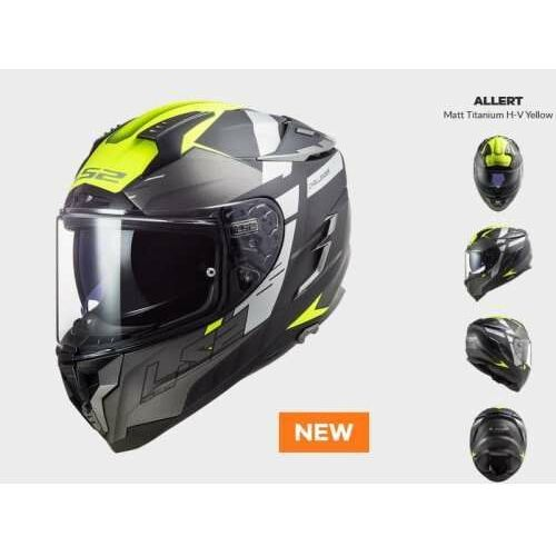 Kaski motocyklowe, KASK Motocyklowy LS2 FF327 CHALLENGER ALLERT TITAN H-V - Nowość 2021 roku