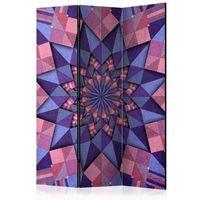 Pozostałe dekoracje, Parawan 3-częściowy - Gwiezdna mandala (różowo-fioletowy) [Room Dividers]