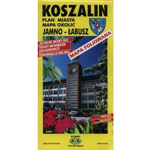 Mapy i atlasy turystyczne, Koszalin plan miasta mapa okolic Jamno-Łabusz (opr. twarda)