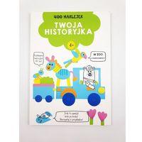 Naklejki, 400 naklejek 4+ twoja historyjka Zielona - książka