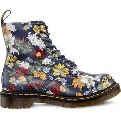Dr Martens DARCY FLORAL 1460 PASCAL DM'S NAVY DARCY FLORAL BACKHAND STRAW GRAIN - Glany Damskie - Motyw