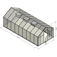 Szklarnie, Szklarnia Sanus XL-18 wymiar 2,9x6,4m H=2,25cm 18,6m2 poliwęglan 6mm