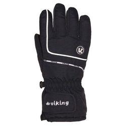 Rękawice zimowe dziecięce Viking Kevin - czarny z białym viking (-28%)