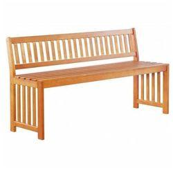 Ogrodowa drewniana ławka z oparciem Jotun - brązowa