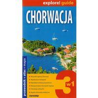 Przewodniki turystyczne, Explore! Guide. Chorwacja 3w1 (opr. broszurowa)