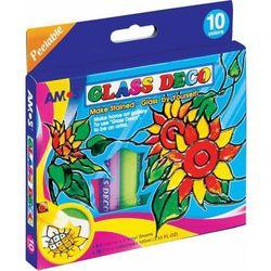 Farby witrażowe 10,5 ml X 10 kolorów AMOS MOBILE KIT - X00560