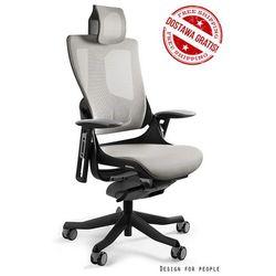 Fotel WAU 2 - czarny/jasno szary i w kolorach siatki - ZŁAP RABAT: KOD150