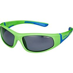 Alpina Flexxy Okulary rowerowe Dzieci, neon green-blue 2019 Okulary przeciwsłoneczne dla dzieci