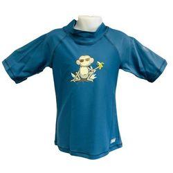 Koszulka kąpielowa bluzka dzieci 84cm filtr UV50+ - Petrol Jungle \ 84cm