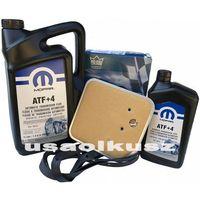 Filtry oleju do skrzyni biegów, Olej MOPAR ATF+4 oraz filtr oleju skrzyni biegów 30RH / 32RH Jeep Wrangler -2002
