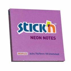 KARTECZKI NOTES SAMOP STICK'N 76X76 FIOLET NEON