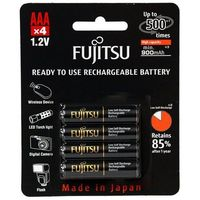 Akumulatorki, 4 x akumulatorki Fujitsu BLACK HR-4UTHC R03/AAA 950mAh