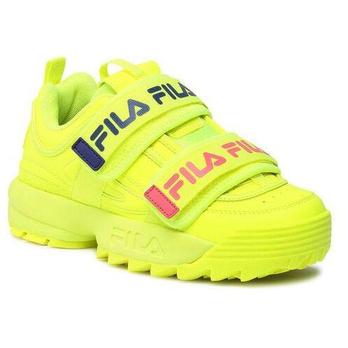 Damskie obuwie sportowe, Sneakersy FILA - Disruptor Straps Wmn 1010859.60S Safety Yellow