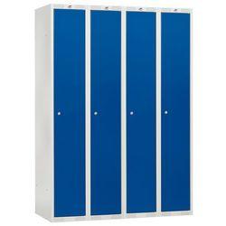 Szafka do przebieralni - 4 sekcje kolor drzwi niebieski