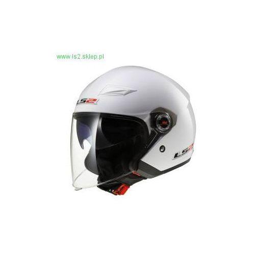 Kaski motocyklowe, KASK LS2 OF569.2 TRACK SOLID WHITE / Biały - BLENDA!