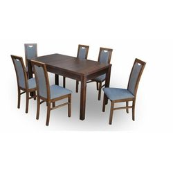 """Zestaw """"DIVA"""" stół + 6 krzeseł - antrazit"""