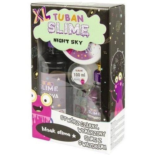 Kreatywne dla dzieci, TUBAN ZESTAW SUPER SLIME XL NIGHT CZARNY GWIAZDKI