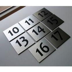 Numer Numery Cyfry Grawerowane na Drzwi AL duże 2