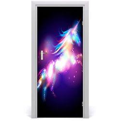 Naklejka samoprzylepna na drzwi Magiczny jednorożec