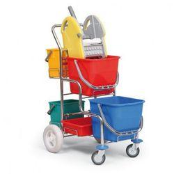 Profesjonalny wózek do sprzątania bez uchwytu na worek