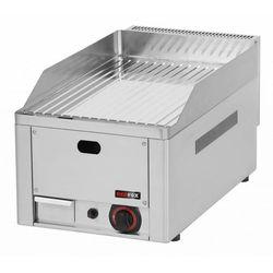 Płyta grillowa ryflowana chromowana gazowa | 330x480mm | 4000W | 330x580x(H)220mm