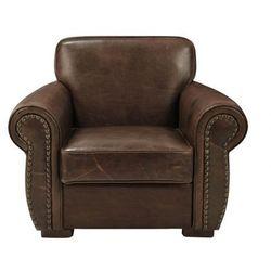 Fotel skórzany HECTOR - Czekoladowy