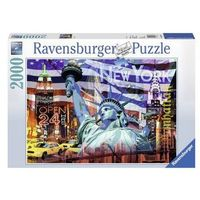Puzzle, Ravensburger 2000 ELEMENTÓW New York Collage