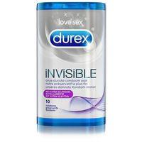 Prezerwatywy, Prezerwatywy cienkie mocno nawilżane - Durex Invisible Extra Lubricated Condoms 10 szt