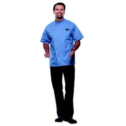 Bluza kucharska męska, rozmiar 54, szaroniebieska | KARLOWSKY, Gustav