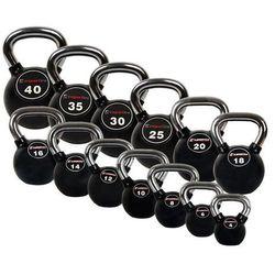 Zestaw hantli gumowanych Kettlebell 4-40kg Insportline