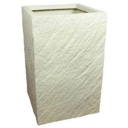 Donica kompozytowa Cermax kwadratowa 30 x 30 x 47 cm biały