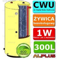 ERMET 300l surowy pionowy dwupłaszczowy bojler do CWU - podgrzewacz wymiennik bezobsługowy - WYSYŁKA GRATIS