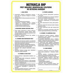 Instrukcja BHP przy obsłudze uniwersalnej szlifierki do ostrzenia narzędzi