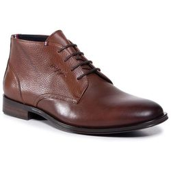 Trzewiki TOMMY HILFIGER - Casual Leather Mix Boot FM0FM03108 Winter Cognac GVI