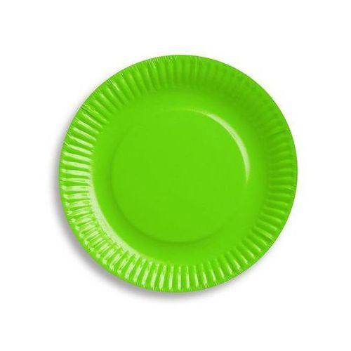 Naczynia jednorazowe, Talerzyki papierowe zielone - 18 cm - 6 szt.