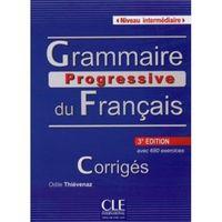 Książki do nauki języka, Grammaire progressive du Francais intermediaire corriges (opr. miękka)