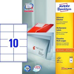 Etykiety uniwersalne Avery Zweckform 3425, 105x57mm
